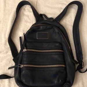 Marc Jacobs dark blue leather backpack